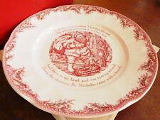 Johnson Bros TWAS THE NIGHT Before Christmas Round Platter Dish Plate - NEW/BOX!