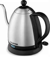 Gourmia GPK390 Electric Kettle Stainless Steel, Cordless Swivel Pitcher, 1 Liter