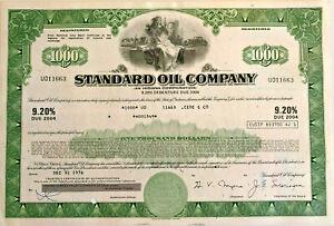 Standard Oil Company > 1970's $1,000 green bond certificate