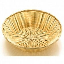 6 x SUNNEX POLY-RATTAN ROUND BASKET 25 x 7 (H) cm BUFFET DISPLAY BREAD