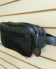 GENTS LEATHER TOILETRIES WASH BAG SOFT NAPPA