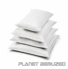 LUXURY PACK OF 4 100% SQUARE HOLLOWFIBRE CUSHION PADS FILLERS INSERTS INNERS