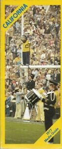 1977 CALIFORNIA GOLDEN BEARS FOOTBALL media guide, EXCELLENT, 4 to pros
