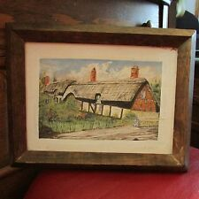 "Framed Picture of Barn Painted on Wood, 12 1/2"" by 9 1/2"""