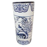 Umbrella Stand / Stick Holder - Oriental Ceramic - Pheasant and Peonies (2nd)