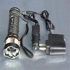 Latest 3500Lm CREE XM-L T6 LED Zoom in/out Flashlight Torch+ AC Car Charger
