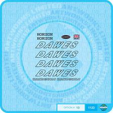 Dawes Horizon Decals Bicycle Transfers - Black - Set 10