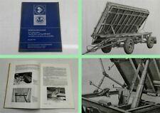 IFA HW 60.11 HL 60.11 mit SHA 6 Kippanhänger Betriebsanleitung Bedienung 1976