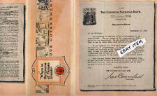1920 brochure CITIZENS NATIONAL BANK Hillsboro Texas GEORGE CARMICHAEL governmen