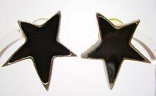SoHo® Ohrstecker Stern silber Kunstharz schwarz black retro resin Kaltemail