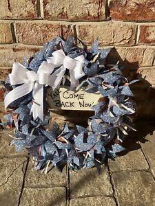 """Summer Wreath ,  """"y'all come back now"""" wood sign/ Handmade"""