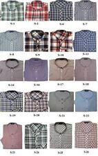 Camicie casual e maglie da uomo multicolore con button down