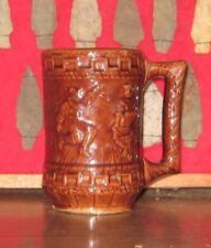Antique Brown Glaze BEER MUG STEIN Square Dance Theme