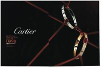 Publicité Advertising 2010 (2 pages) Les Bijoux Cartier