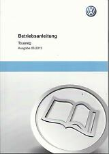 VW TOUAREG 2 Betriebsanleitung 2013 Bedienungsanleitung Handbuch Bordbuch BA ю