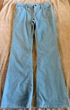 Euc Gap Kids Light Blue Glitter Flare Pants Size 14 Regular