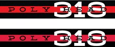 Set of 2 POLY HEAD 318 Valve Cover Decal Sticker Dodge Plymouth Chrysler Mopar