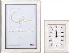 F. G. Galassi Handmade Fine Italian Wood White Burl Clock cl24034