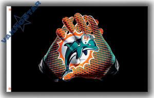 Miami Dolphins Gloves football team Memorable flag 90x150cm 3x5ft best banner