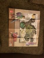 The Legend of Zelda Ocarina of Time N64 Electronic Boutique Hyrule Map Poster