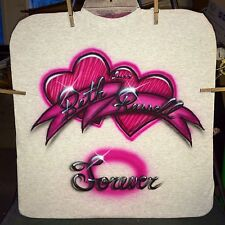 FOREVER HEART Airbrushed T-shirt Personalized All Sizes Up To 6X