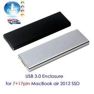 USB3.0 Hard disk Enclosure for 2012 Apple MacBook Air 7+17pin Disassemble SSD