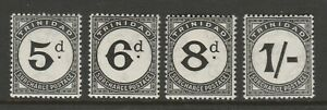 Trinidad 1945 Postage dues 4v SG D22-D25 Mint.