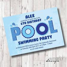 Nuoto/Piscina Festa Inviti personalizzati x 8