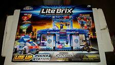 Lite Brix Light Up Police Station Set 340 pc NEW SEALED