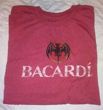 Men's Bacardi Classic Short Sleeve Logo Red T-Shirt Size X-Large