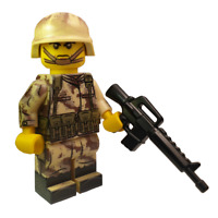 Modern US Soldier Made With REAL LEGO® Minifigure Parts