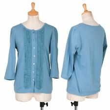 agnes b. Ruffle decoration cotton cardigan Size 2(K-32313)