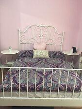 Bedroom set double bed wardrobe side table mattress IKEA furniture white