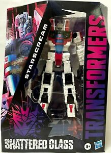 IN HAND HASBRO TRANSFORMERS GENERATIONS SHATTERED GLASS STARSCREAM VOYAGER CLASS
