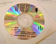 RADIO SHOW: IN THE STUDIO 1/15/01 STYX 'PARADISE THEATER' 20TH ANNIVERSARY