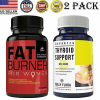 Women Fat Burner Capsules Thyroid Support Fat Burner Weight Loss Capsules 2 Pack