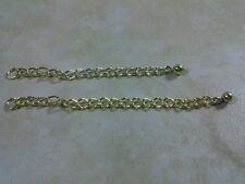"""Necklace Bracelet Anklet Extender Pretty Gift Us 2 & 3"""" Gold Plated Chain for"""