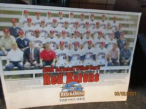 2002 Scranton/Wilkes-barre Red Barons team photo picture 12 x 9