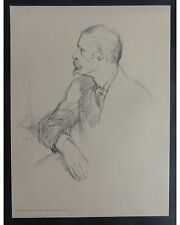 William Rothenstein: Walter Crane - Original Lithographie aus PAN, im St. sign.