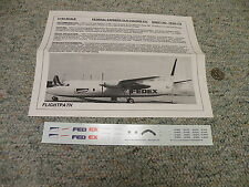 Flight Path decals 1/144 FP44-179 Federal Express Old Colors Fokker F27  Box 6