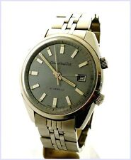 Rare Vintage Citizen Parawater Alarm Date 63-7092 38mm 21J Steel Mens Watch