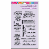 Birthday Wish Card Sentiments Stampendous Clear Acrylic Stamp Set SSC1115 NEW!