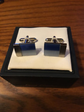 Two tone Blue stone Stainless Steel cufflinks