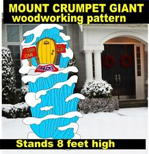 GRINCH WHOVILLE MOUNT CRUMPET GIANT YARD ART PATTERN WOOD WORKING DECORATION