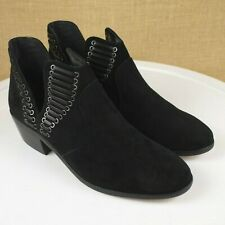 Vince Camuto Pevista Black Suede Boots Size 7.5
