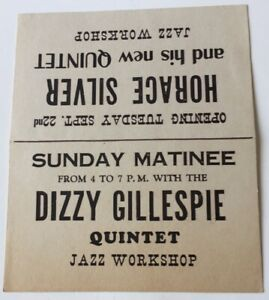 1950's Dizzy Gillespie And Horace Silver At The Jazz Workshop Table Topper