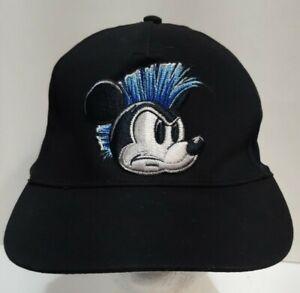 Disney Parks Youth Baseball Cap Hat Mickey Mouse Blue Mohawk Black New