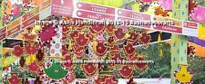 Indian Handmade Hanging Pankhi Wedding Decorative Spinner Hand Fan 15 pc Lot