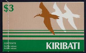 1983 KIRIBATI BIRDS BOOKLET CONTAINING 8 STAMPS FINE MINT MNH/MUH