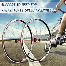 700C Ultra Light Road Bicycle Wheel 1690g 30mm Rim Freewheel Front Rear Wheelset